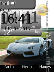 Lamborghini Live Clock theme screenshot