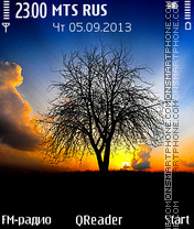 Скриншот темы Sunrise