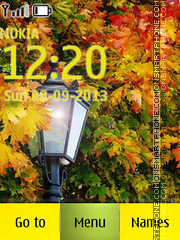 Autumn Light theme screenshot