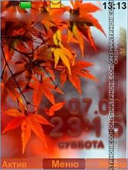 Autumn, leaves es el tema de pantalla