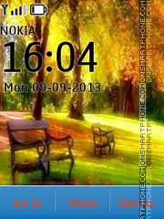 Autumn Park theme screenshot