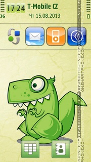 Dinosaur Illustration es el tema de pantalla