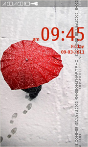 Red Umbrella 01 tema screenshot