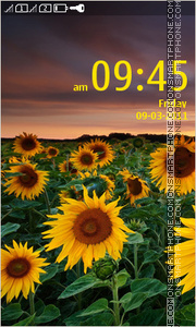 Sunflower Full Touch theme screenshot