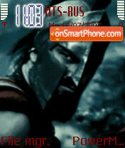 300 Sparta Animated theme screenshot