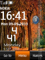 Autumn Trees Live Clock theme screenshot