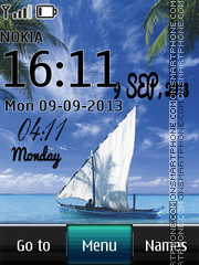 Yacht Digital Clock theme screenshot