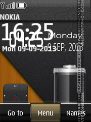 Battery Dual Clock 01 tema screenshot
