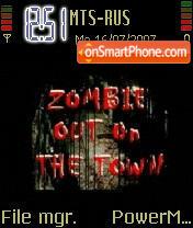 Animated Zombie Movie es el tema de pantalla