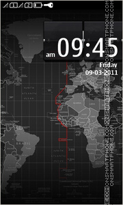 World Map Full Touch tema screenshot
