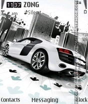 White Audi theme screenshot
