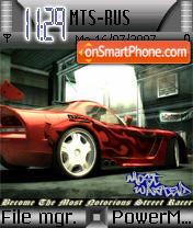 Nfs Most Wanted 03 es el tema de pantalla
