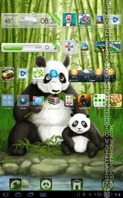 Spring Panda tema screenshot
