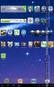 X-Constella tema screenshot