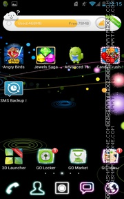 Galaxys 01 tema screenshot