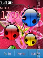 Ladybugs and Lily theme screenshot