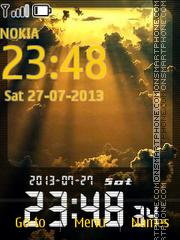 Скриншот темы Sunset Clock 04