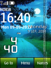 Misty Road Digital Clock theme screenshot