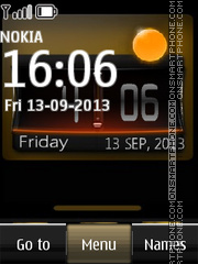 Htc live clock tema screenshot