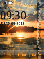 Sunset on the lake tema screenshot