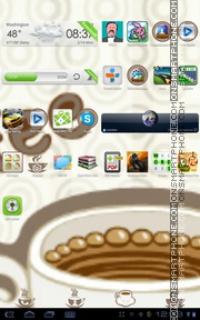 Cup of Coffee es el tema de pantalla
