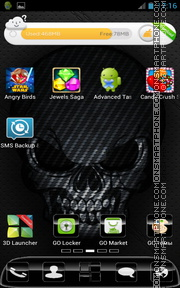 Black Skull HD tema screenshot