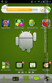Android Green 01 theme screenshot