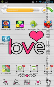 Doodled With Love es el tema de pantalla