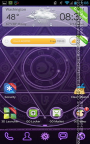 Magic Circle 01 tema screenshot