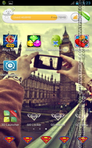 London Great Britain theme screenshot
