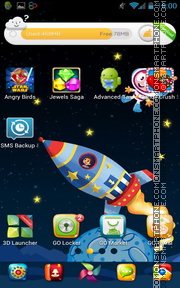 Space Flight 01 theme screenshot