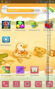 Simple Duck tema screenshot
