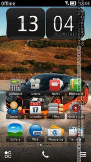 Скриншот темы Car v2