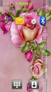 Floral Rose theme screenshot