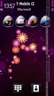 Flowers Magenta es el tema de pantalla