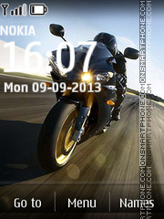Yamaha on Highway theme screenshot