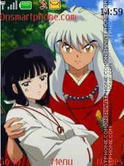 Kikyo y inuyasha tema screenshot