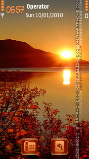 Autumn Sunset tema screenshot