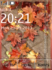 Autumn Day tema screenshot