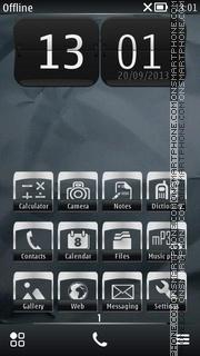 Black Paper 01 theme screenshot