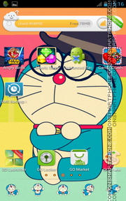 Doraemon 14 theme screenshot
