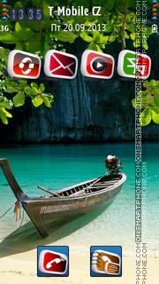 Boat Island tema screenshot
