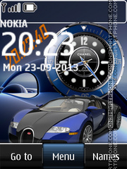 Bugatti Dual Clock theme screenshot