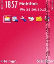 Pink gradient tema screenshot
