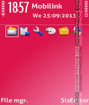 Скриншот темы Pink gradient