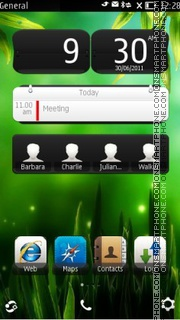 Green X Theme-Screenshot