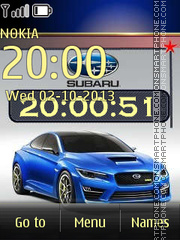 Subaru WRX theme screenshot