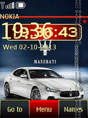Maserati Ghibli S Theme-Screenshot