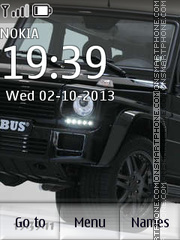 Mercedes Brabus theme screenshot
