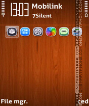 Classic wood theme screenshot